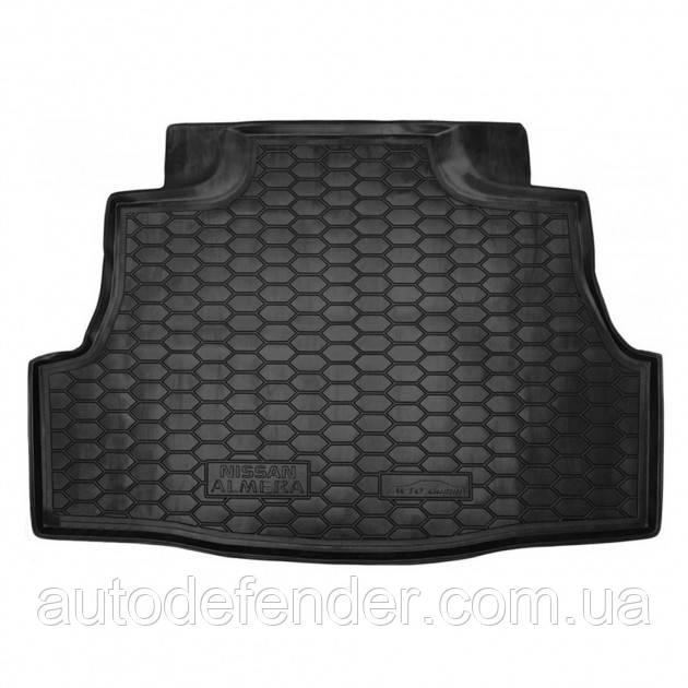 Килимок в багажник для Nissan Almera Classic 2006-2012, гумовий (AVTO-Gumm)