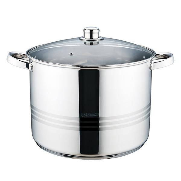 Кастрюля с крышкой из нержавеющей стали Maestro MR-3517-16 (16 л)   набор посуды   кастрюли Маэстро, Маестро