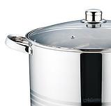 Кастрюля с крышкой из нержавеющей стали Maestro MR-3517-16 (16 л)   набор посуды   кастрюли Маэстро, Маестро, фото 5