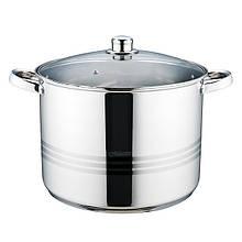 Кастрюля с крышкой из нержавеющей стали Maestro MR-3517-14 (14 л)   набор посуды   кастрюли Маэстро, Маестро