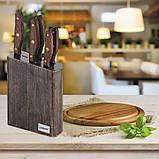 Набір ножів з нержавіючої сталі на підставці Maestro MR-1416 (6 предм.)   кухонний ніж Маестро   ножі Маестро, фото 3