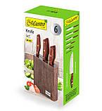 Набір ножів з нержавіючої сталі на підставці Maestro MR-1416 (6 предм.)   кухонний ніж Маестро   ножі Маестро, фото 4