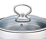 Каструля з кришкою з нержавіючої сталі Maestro MR-3508-30 (10 л)   набір посуду Маестро   каструлі Маестро, фото 3