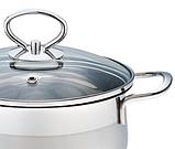 Каструля з кришкою з нержавіючої сталі Maestro MR-3508-30 (10 л)   набір посуду Маестро   каструлі Маестро, фото 5