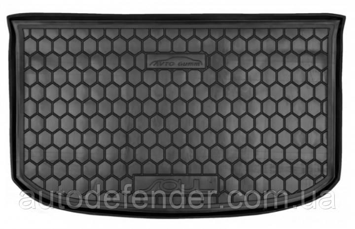 Килимок в багажник для Kia Soul II 2014-2019, (верхній), гумовий (AVTO-Gumm)