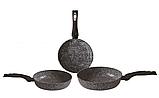 Набор сковородок Edenberg EB-1738 с антипригарным гранитным покрытием 3 предмета, фото 3