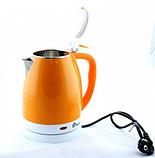 Электрочайник DOMOTEC MS-5022 2л оранжевый   электрический чайник, фото 2