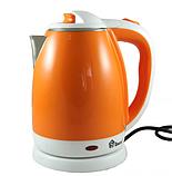Электрочайник DOMOTEC MS-5022 2л оранжевый   электрический чайник, фото 3