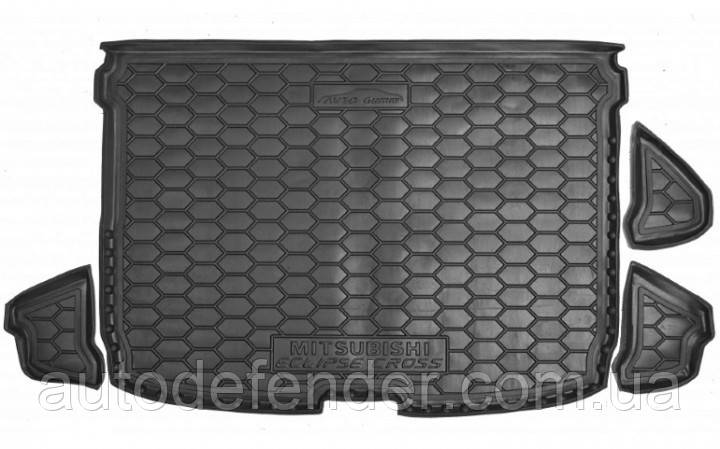 Коврик в багажник для Mitsubishi Eclipse Cross 2018-2021 резиновый (полиуретановый) Avto-Gumm