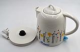 Електрочайник керамічний DOMOTEC MS-5057 | електричний чайник, фото 2