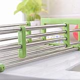 Складна багатофункціональна кухонні полку Kitchen Drain Shelf Rack | Сушарка для посуду на раковину, фото 3