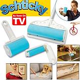 Липкий валик для прибирання, чищення одягу Sticky Buddy | Набір щіток валиків для прибирання, фото 3