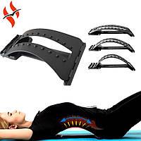 Тренажер спортивний місток масажер для спини і хребта 3-х рівневий Magic Back Support, фото 1