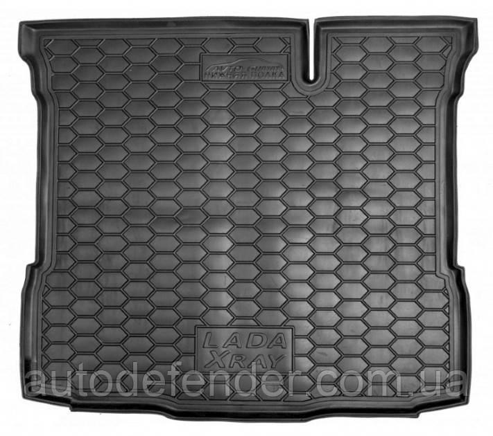 Коврик в багажник для Lada XRAY Лада Х Рей 2015-, нижний резиновый (полиуретановый) Avto-Gumm