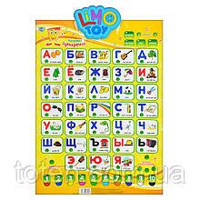 Плакат обучающий 7002 Говорящий Букваренок, музыка, звук рус, буквы, цифры, стихи, скороговорки Т