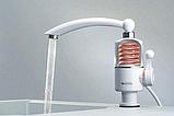 Проточний водонагрівач бойлер кран Delimano з нижнім підключенням w-60, фото 3