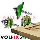 Комплект фрез VOLFIX GRAND d8 из 3х шт для мебельной обвязки с филенкой, фото 3