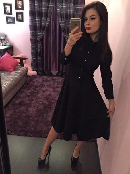Офисное платье-рубашка