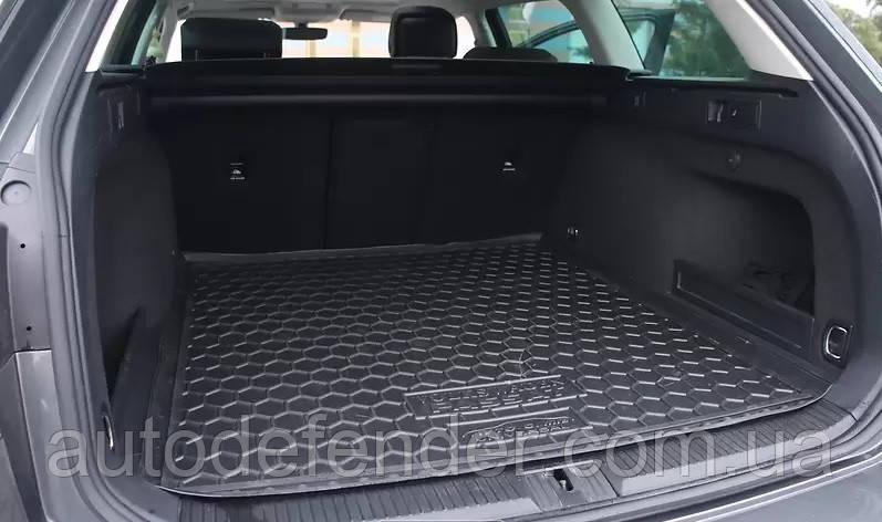 Коврик в багажник для Volkswagen Passat B8 2015- универсал, резиновый (полиуретановый) Avto-Gumm