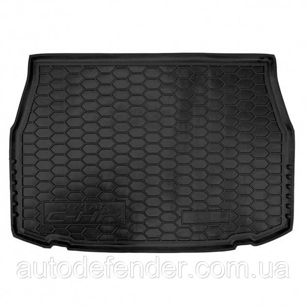 Коврик в багажник для Toyota C-HR c 2016 резиновый (полиуретановый) Avto-Gumm