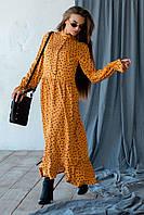 ✔️Модное женское платье миди с цветочным принтом штапельное 42-56 размера разные расцветки