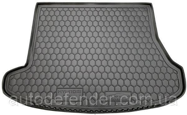 Коврик в багажник для Hyundai i30 FD 2007-2012 универсал, резиновый (полиуретановый) Avto-Gumm
