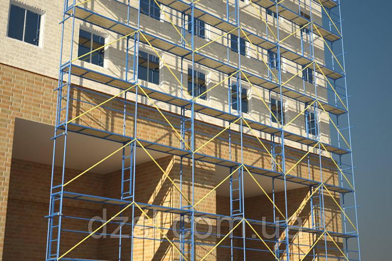 Будівельні риштування клино-хомутові комплектація 12.5 х 10.5 (м)