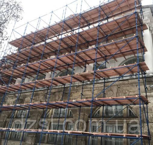 Будівельні риштування клино-хомутові комплектація 15.0 х 10.5 (м)