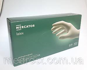 Перчатки латексные опудренные MERCATOR Latex M (Малайзия)