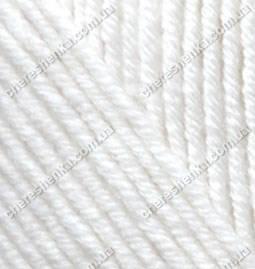 Нитки Alize Cashmira 55 белый, фото 2