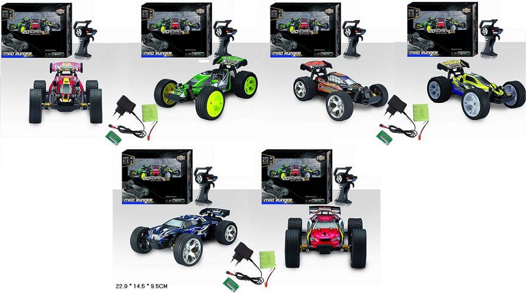 Машина на радіо керуванні мікс видів гумові колеса амортизація в коробці 566-105A/12