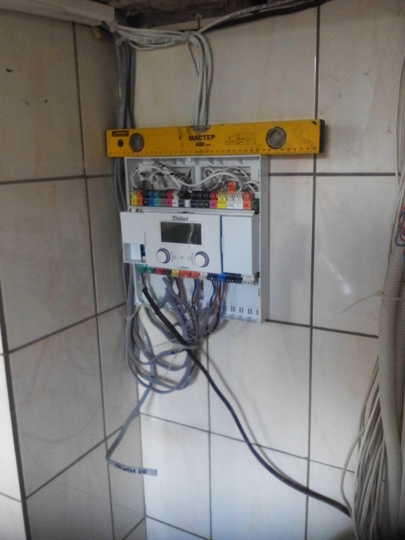 Котельная - конденсационный газовый котел Vaillant + твердотопливный котел ОРОР (дрова + уголь) 2