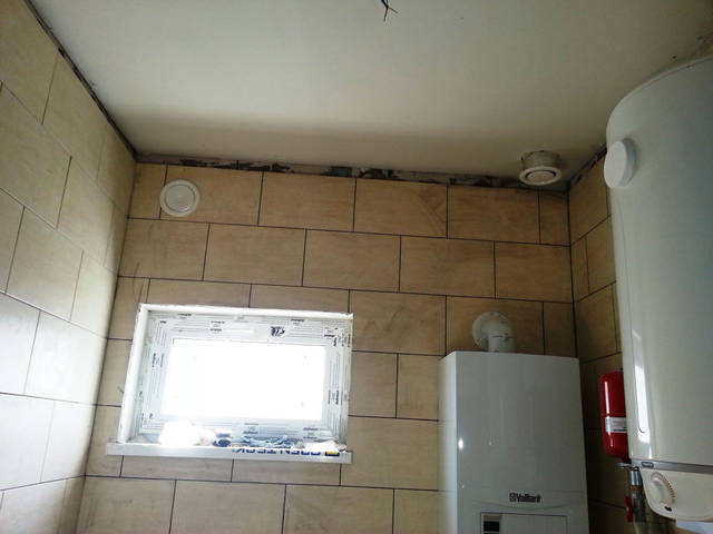 Вентиляция топочной (стеновой клапан для притока воздуха и потолочный клапан для отвода воздуха).