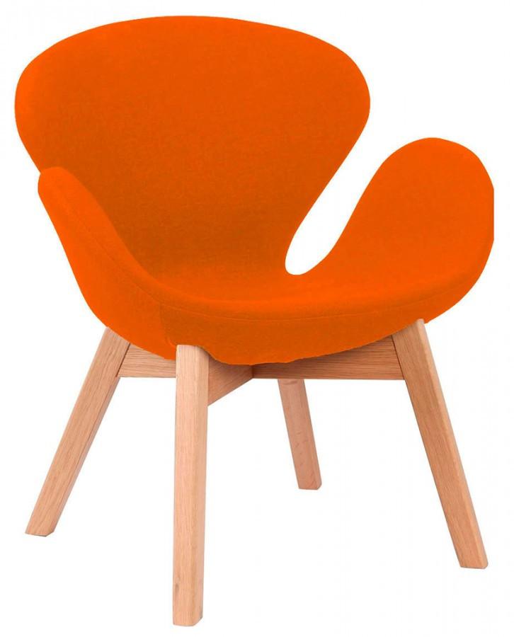 Кресло Сван Вуд Армз, мягкое, ножки бук, ткань, все цвета
