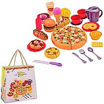 Игровой набор продукты фастфуд, гамбургер, пицца, хот-дог, сладости, TY6016-1