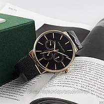 Часы оригинальные мужские наручные кварцевые Megalith 0047M-6 Black-Gold / часы оригинальные черные, фото 3