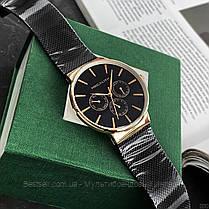 Часы оригинальные мужские наручные кварцевые Megalith 0047M-6 Black-Gold / часы оригинальные черные, фото 2