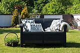 Диван софа для сада и террасы Allibert by Keter Corfu Love Seat искусственный ротанг, фото 2