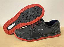 Кроссовки туфли осенние для мужчин черные на красной подошве 45 размер, фото 3