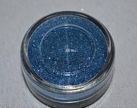 Песок для дизайна ногтей бледно-синий