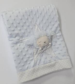 Плед детский в коробке голубой - 17