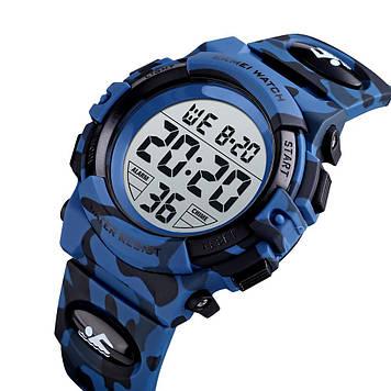 Детские спортивные часы Skmei 1548 kids тёмный синий камуфляж