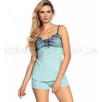 Пижама вискоза с короткими шортами Clarisse, Ментоловый, L