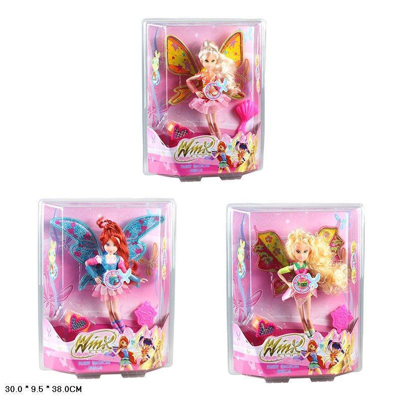 Лялька W Winx Club 3 вида музика світяться з крилами в коробці ZT8742