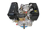 Двигатель дизельный GrunWelt GW192FE (14 л.с., шпонка), фото 6