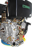 Двигатель дизельный GrunWelt GW192FE (14 л.с., шпонка), фото 8