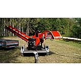 Измельчитель веток Remet RPS-120+платформа+поворотный круг+транспортер 2,3 м (100 мм, 8 ножей 23 л.с./бензин), фото 3