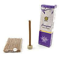 Благовоние Sangam Dhoop sticks PAW 10шт/уп. Аромапалочки безосновные Очищение (33907)