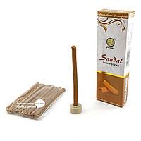 Благовоние Sandal Dhoop sticks PAW 10шт/уп. Аромапалочки безосновные Сандал (33905)