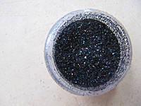 Песок для дизайна ногтей черный